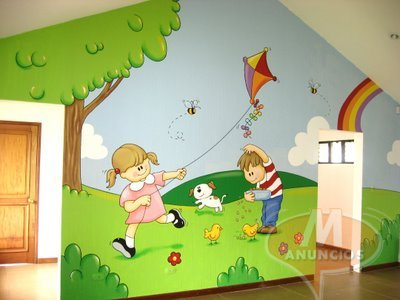 Decoracion y murales infantiles madrid 30115230 for Decoracion para jardin infantil